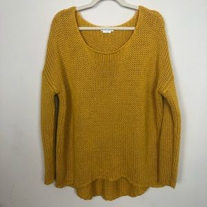 REVOLVE Lovers+Friends Cable Knit Yellow Sweater